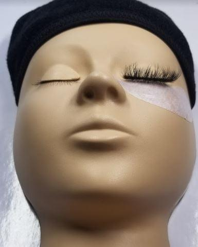 goldlashbar realistic training mannequin for eyelash extension practice russian volume classic lash application